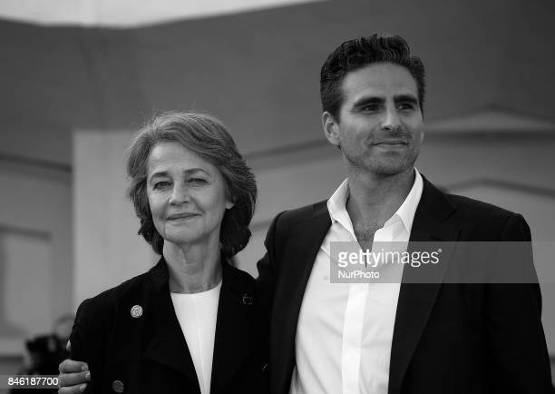 Venice Italy 08 September 2017 Charlotte Rampling and Andrea Pallaoro walking thered carpet of the movie 'Hannah' presented in competition at the...