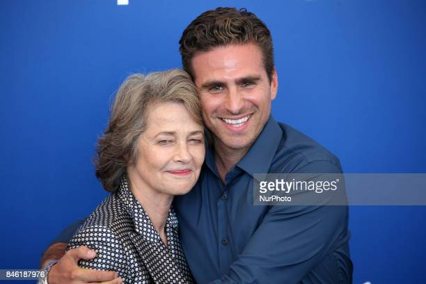 Venice Italy 08 September 2017 Charlotte Rampling and Andrea Pallaoro attend the photocall of the movie 'Hannah' presented in competition at the 74th...