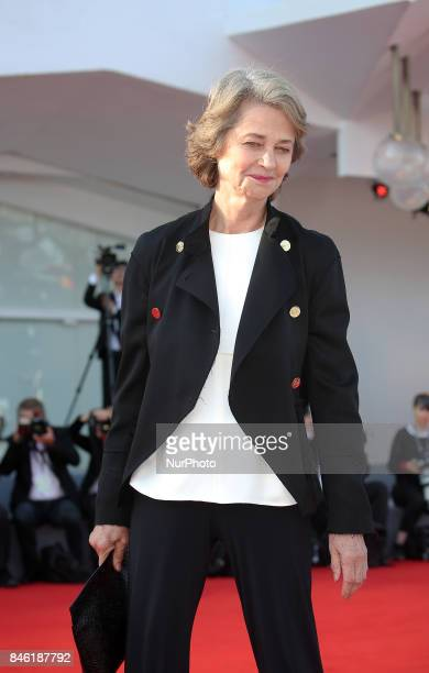 Venice Italy 08 September 2017 Charlotte Rampling walking thered carpet of the movie 'Hannah' presented in competition at the 74th Venice Film...