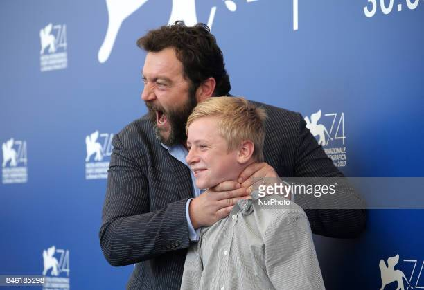 Venice Italy 08 September 2017 Denis Menochet and Thomas Gioria attends the photocall of the movie 'Jusqu' la Garde' presented in competition at the...