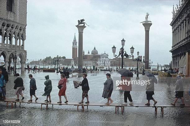 Venice Italy Acqua alta Place Saint Marc