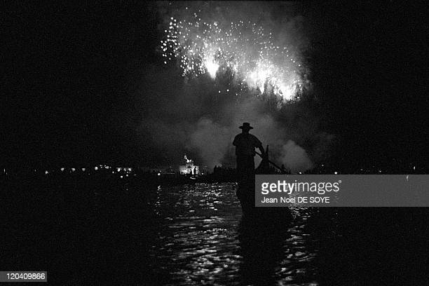Venice Italy in 2003 Redeemer festival commemorating the end of the plague epidemic of 1576