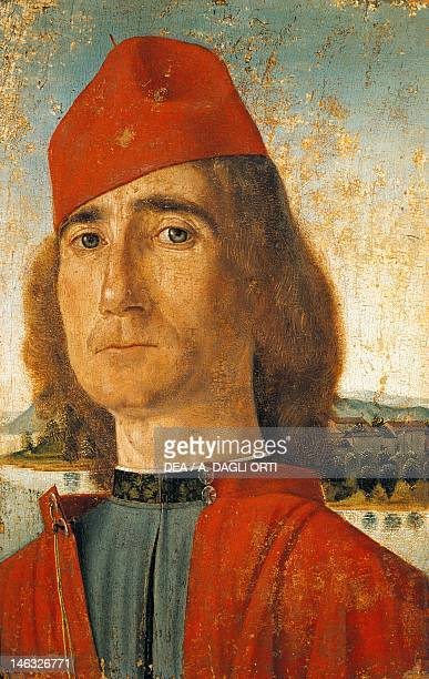 Venice Museo Correr Portrait of a man with a red cap by Vittore Carpaccio