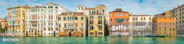 Venice panorama colourful villas along the Grand Canal Italy