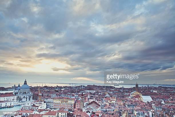 A Venice Sunset Skyline Rooftop view