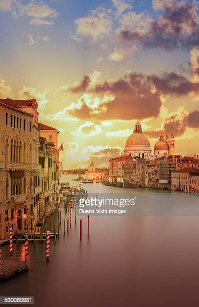 Venice. The Grand Canal at sunset