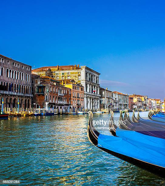 Venice with gondolas in day time