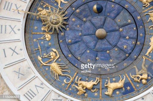 Venice zodiacal clock : Stock Photo