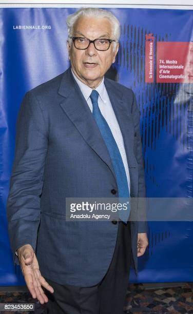 Venice's Biennale President Paolo Baratta attends the photocall of 74th International Cinematic Art Exhibition of Venice at The Space Moderno Cinema...