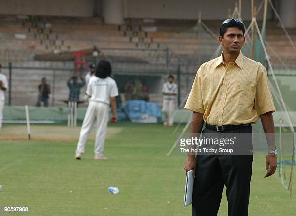 Venkatesh Prasad Indian Cricket Player and mediumpacer at Chinnaswamy Stadium in Bangalore Karnataka India