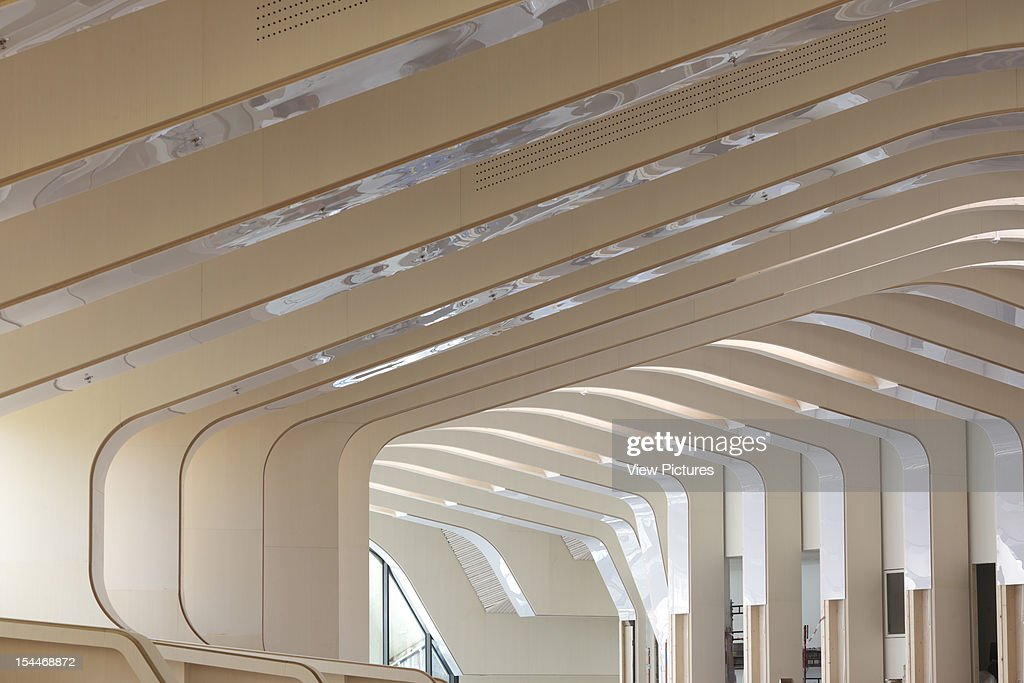 Vennesla Library Helen Hard Vennesla Norway Interior Showing Ribbed Roof Looking Towards Main Entrance Helen Hard Architects Norway Architect