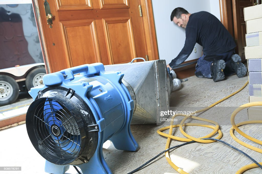 Ventilation Cleaner - System Working : Stock Photo