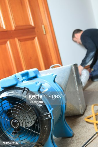 Ventilation Cleaner - Working : Stock Photo