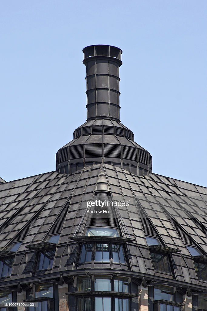 Ventilation cowl on roof of Portcullis House : Stock Photo