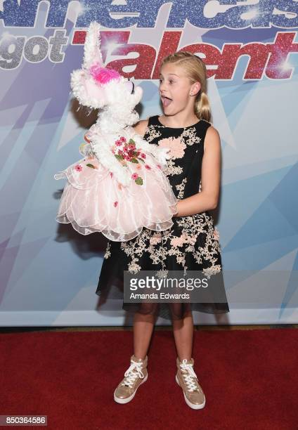 Ventriloquist and winner Darci Lynne attends NBC's 'America's Got Talent' Season 12 Finale at the Dolby Theatre on September 20 2017 in Hollywood...