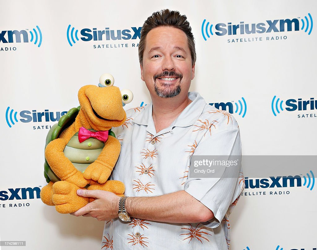 Ventriloquist/ impressionist <a gi-track='captionPersonalityLinkClicked' href=/galleries/search?phrase=Terry+Fator&family=editorial&specificpeople=5341042 ng-click='$event.stopPropagation()'>Terry Fator</a> (R) & Winston the Impersonating Turtle visit the SiriusXM Studios on July 23, 2013 in New York City.