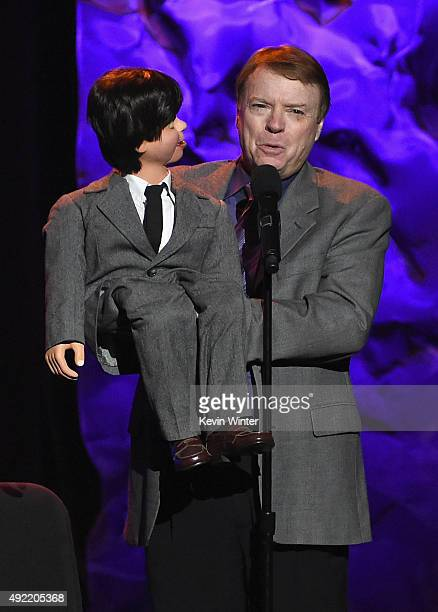 Ventriloquist Jay Johnson performs onstage during the 9th Annual Comedy Celebration presented by the International Myeloma Foundation at The Wilshire...