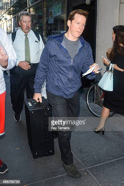 Ventriloquist Jeff Dunham enters the 'Today Show' taping at the NBC Rockefeller Center Studios on September 14 2015 in New York City