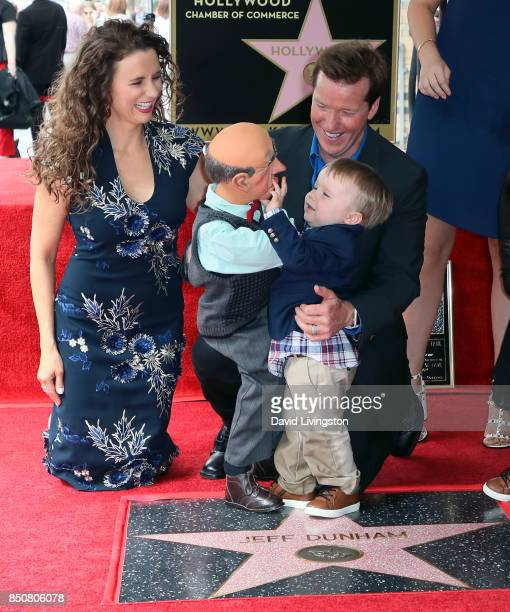 Ventriloquist Jeff Dunham with wife Audrey Dunham puppet Walter and his son James Dunham attends his being honored with a Star on the Hollywood Walk...