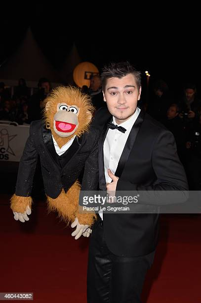 Ventriloquist Jeff Panacloc and JeanMarc attend the NRJ Music Awards at Palais des Festivals on December 13 2014 in Cannes France