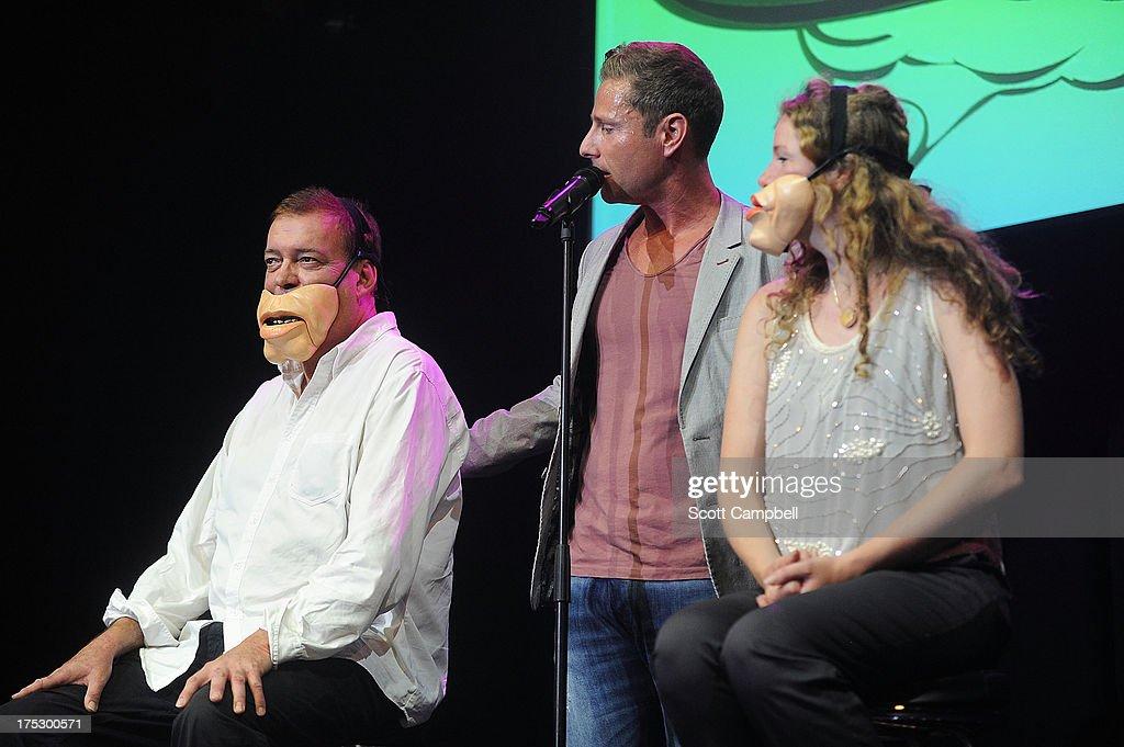 Ventriloquist Paul Zerdin performs during the Gilded Balloon press launch at The Edinburgh Festival Fringe on August 1, 2013 in Edinburgh, Scotland.
