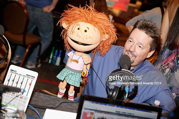 Ventriloquist/comedian Terry Fator is interviewed backstage at Radio Row during the 2014 Billboard Music Awards at the MGM Grand Garden Arena on May...