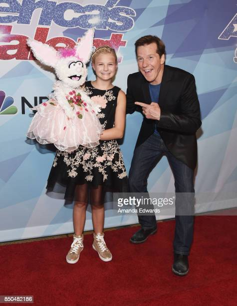 Ventriloquists Darci Lynne and Jeff Dunham attend NBC's 'America's Got Talent' Season 12 Finale at the Dolby Theatre on September 20 2017 in...