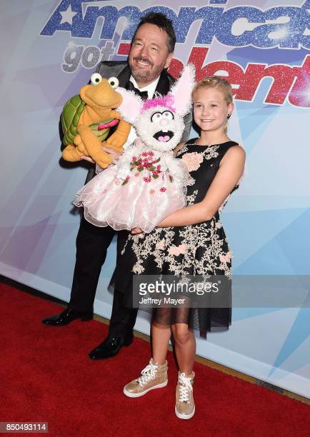 Ventriloquists Darci Lynne Farmer and Terry Fator attend NBC's 'America's Got Talent' Season 12 Finale at the Dolby Theatre on September 20 2017 in...