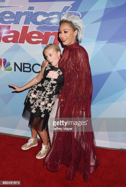 Ventriloquistsinger Darci Lynne Farmer and SingersongwriterTV personality Mel B attend NBC's 'America's Got Talent' Season 12 Finale at the Dolby...