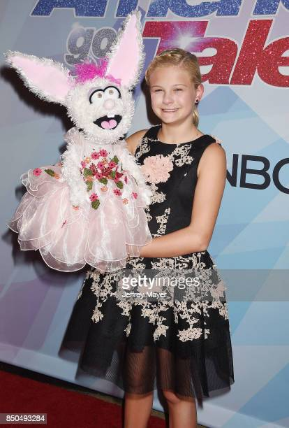 Ventriloquistsinger Darci Lynne Farmer attends NBC's 'America's Got Talent' Season 12 Finale at the Dolby Theatre on September 20 2017 in Hollywood...