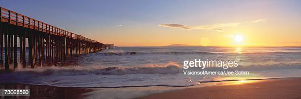 'Ventura pier at sunset, California'