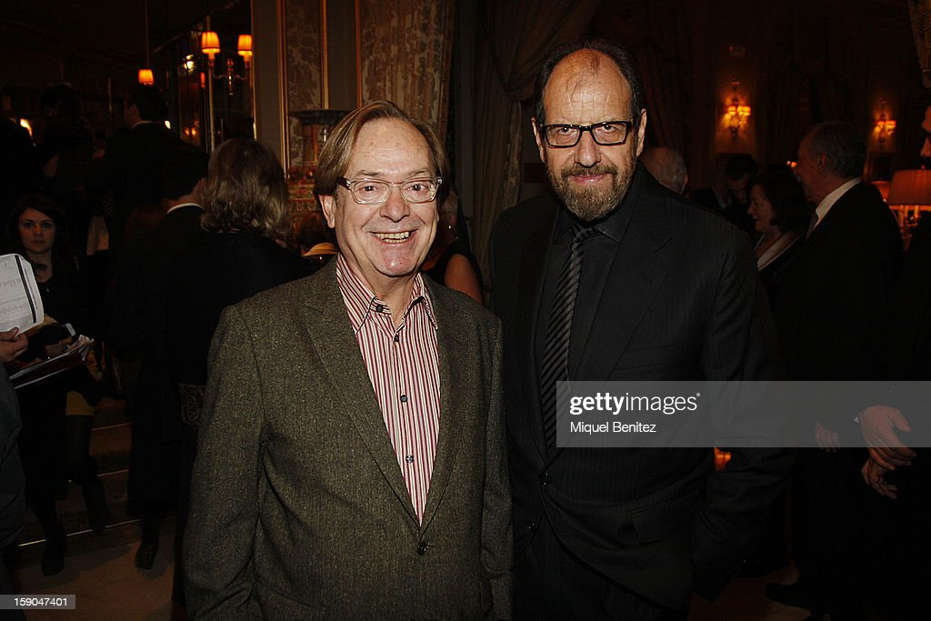Ventura Pons and Josep Maria Pou attend the 69th Nadal literature award on January 6, 2013 in Barcelona, Spain.