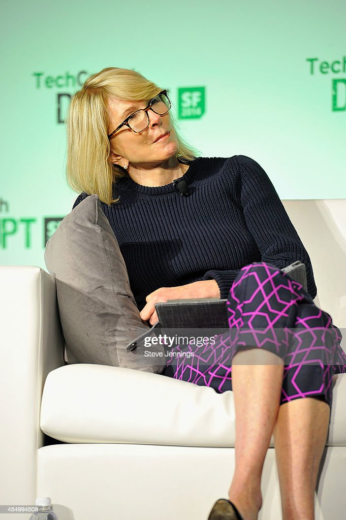 Ventures President Susan Lyne judges at Startup Battlefield Session Two Accelerate at TechCrunch Disrupt at Pier 48 on September 8 2014 in San...