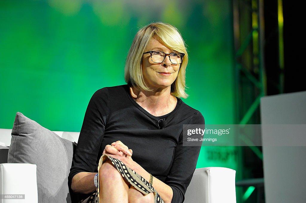 Ventures President Susan Lyne speaks onstage at TechCrunch Disrupt at Pier 48 on September 9 2014 in San Francisco California