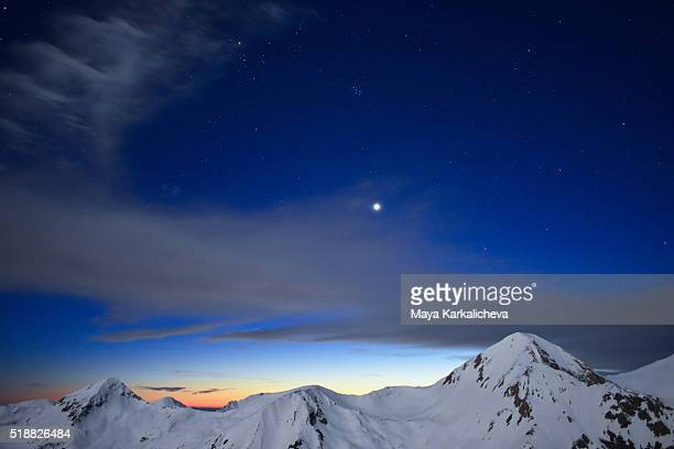 Venus above a mountain peat