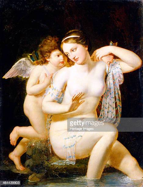 'Venus and Cupid' 1792 According to Roman Mythology Cupid was the son of Venus the goddess of love and Mars the god of war Found in the collection of...