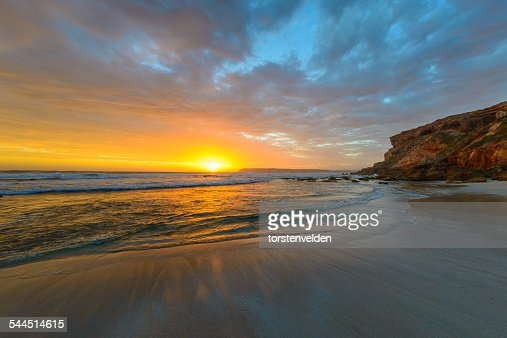 Australia, View of sunset on Venus Bay