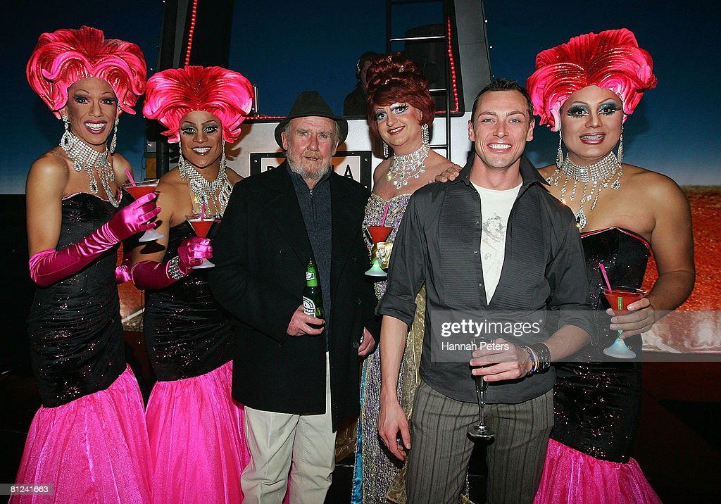 Venus, Buckwheat, Bill Hunter,Lola, Daniel Scott and Testickle attend the after show party following the opening night of 'Priscilla Queen Of The Desert - The Musical' at The Civic Theatre on May 27, 2008 in Auckland, New Zealand.