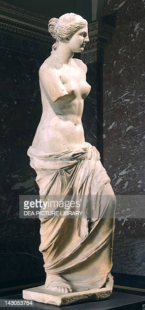 Venus de Milo 130 BC by Alexander of Antioch marble sculpture found in Milo Greek Civilization 2nd Century BC Paris Musée Du Louvre