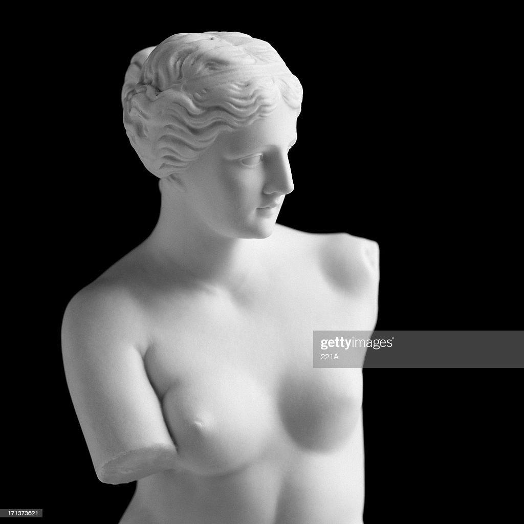 Venere di Milo su nero : Foto stock