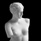 Venus de Milo on black