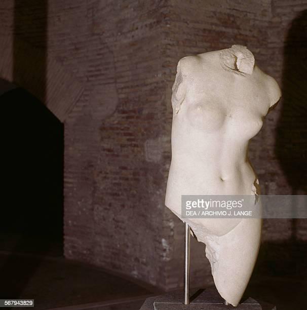 Venus marble sculpture Roman civilisation Roma Museo Nazionale Romano Palazzo Massimo Alle Terme