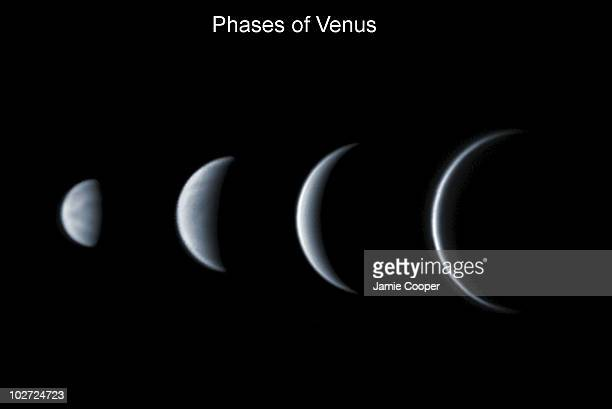 Venus This set of images taken in 2004 show the phases and relative size of Venus as seen from Earth as it moves around the Sun The images were taken...