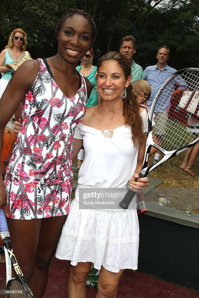 Venus Williams and Dylan Lauren attend the EleVen by Venus Williams party on August 11, 2012 in Southampton, New York.