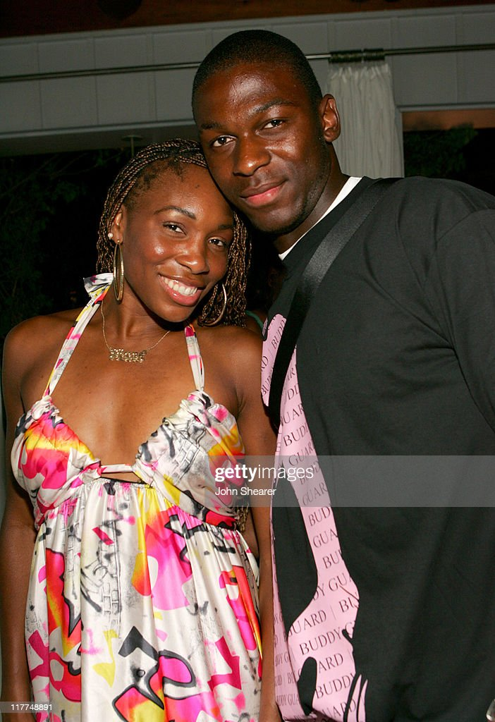 Venus Williams and Yves Ma-Kalambay during The Chelsea Football Club, Adidas and the William Morris Agency Host 'The Hit The Ground Running' Party at Skybar in Los Angeles, California, United States. (Photo by John Shearer/WireImage for William Morris Agency ( WMA ))