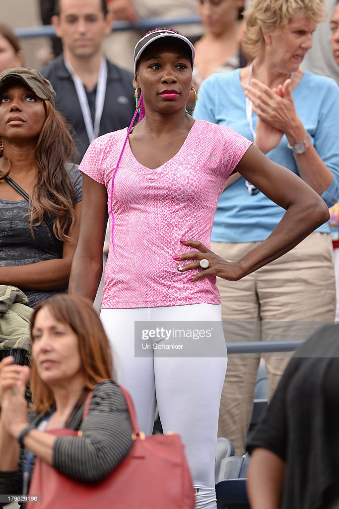 Venus Williams attends the 2013 US Open at USTA Billie Jean King National Tennis Center on September 1, 2013 in New York City.