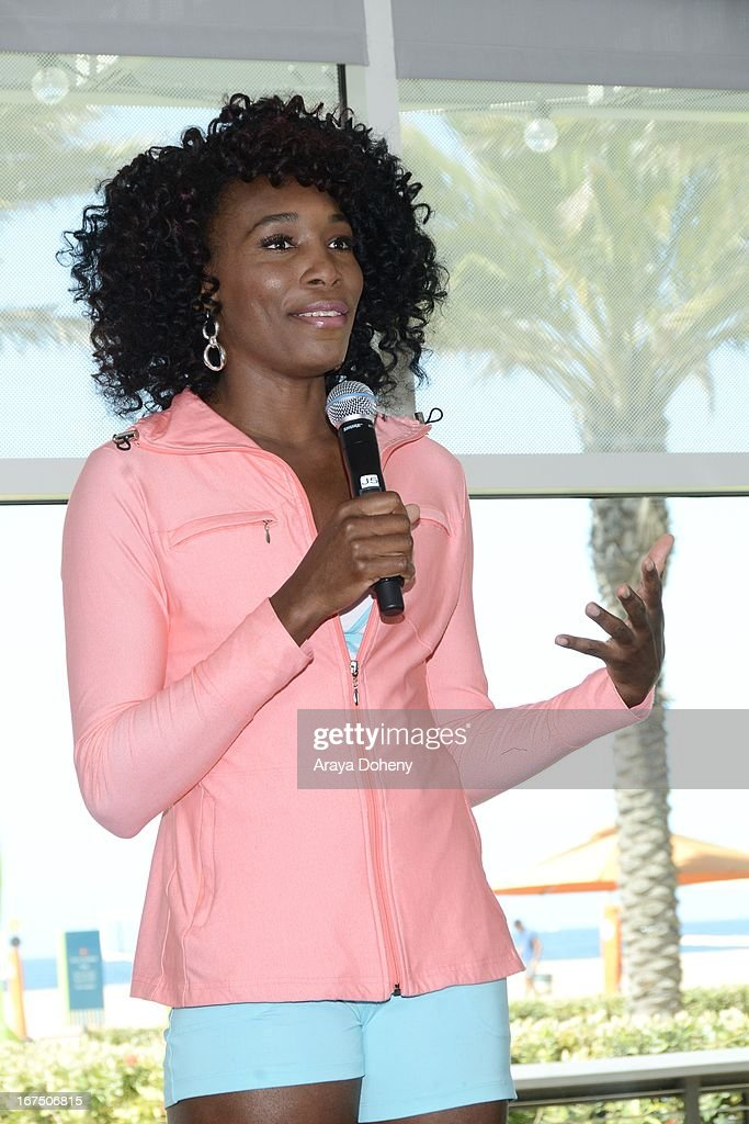 Venus Williams attends the annual Jamba FiTrends Expo featuring Olympian and tennis star Venus Williams on April 25, 2013 in Santa Monica, California.