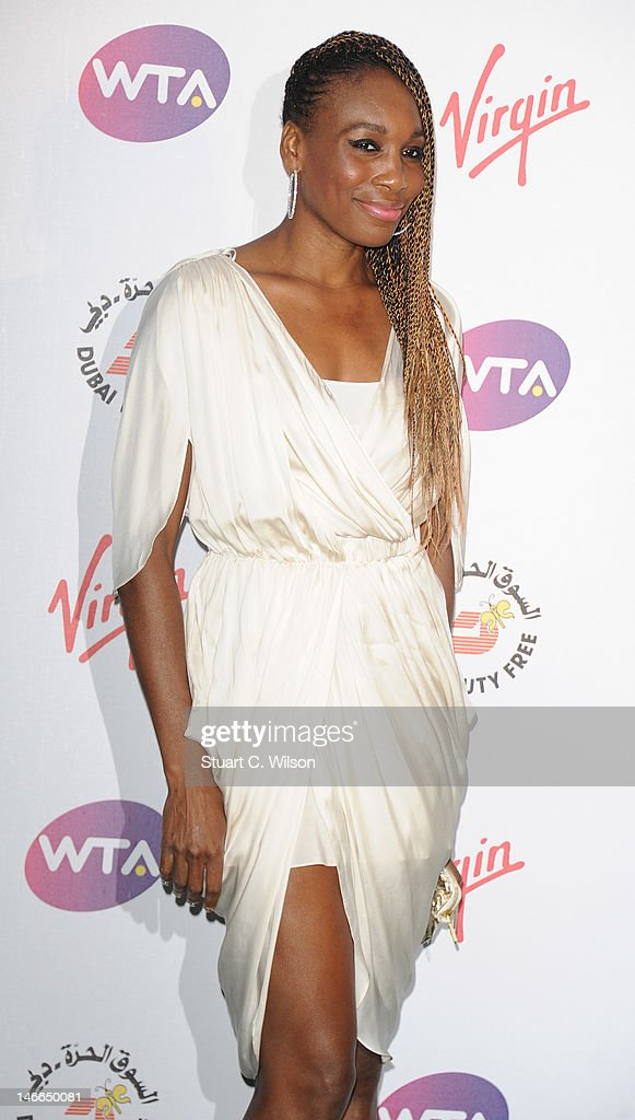 <a gi-track='captionPersonalityLinkClicked' href=/galleries/search?phrase=Venus+Williams&family=editorial&specificpeople=171981 ng-click='$event.stopPropagation()'>Venus Williams</a> attends the Pre-Wimbledon Party at Kensington Roof Gardens on June 21, 2012 in London, England.