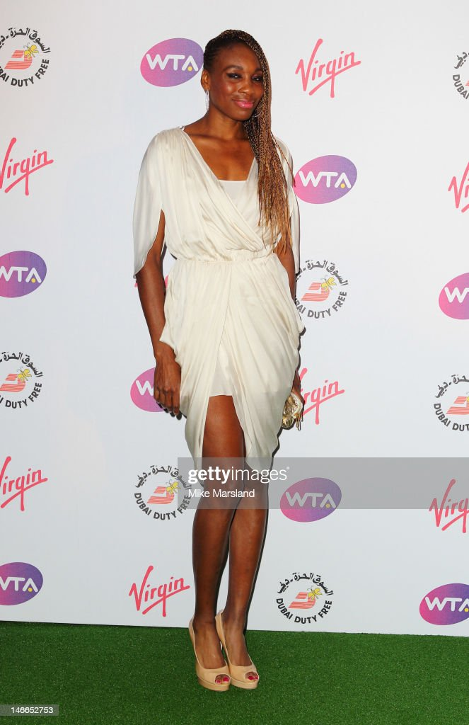 Venus Williams attends the Pre-Wimbledon Party at Kensington Roof Gardens on June 21, 2012 in London, England.