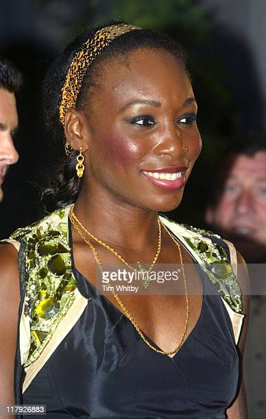 Venus Williams during 2005 Wimbledon Championships Champions Dinner at The Savoy Hotel in London Great Britain